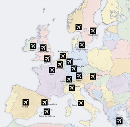 busy airports in europe