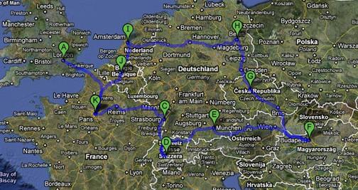 trip planning europe