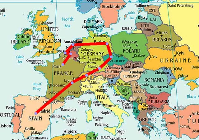 Cheapest Way to Travel Europe Comparing Train vs Plane vs Car Travel – Europe Travel Planner Map