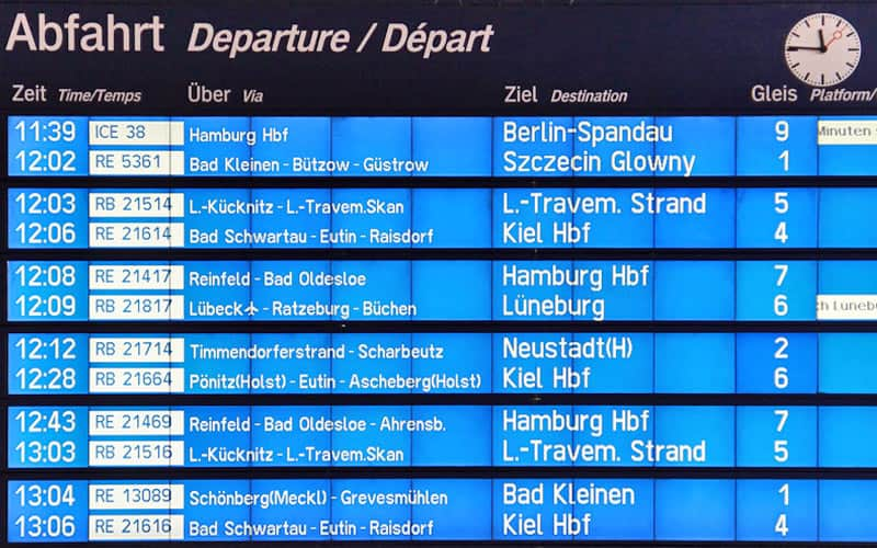 Europe Train Guide | Departure Guide