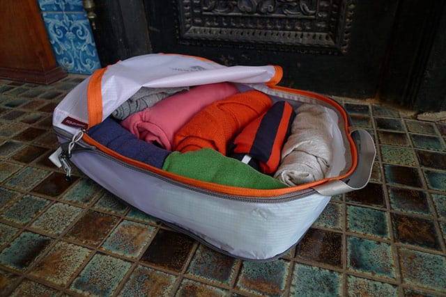 packing cubes - packed
