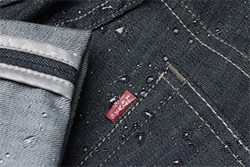water resistant coating on the Levi's Commuter jeans