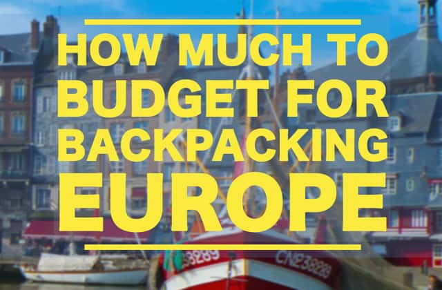 Backng Through Europe Cost