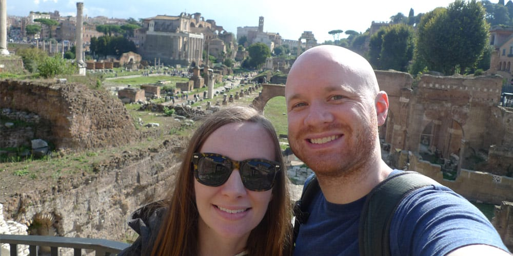 James and Susan in Rome - Roma and Vatican Pass