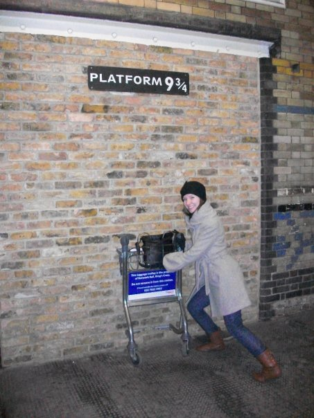 Platform Nine and Three-Quarters at King's Cross Station in London