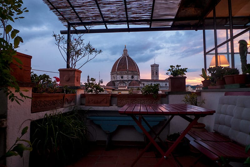 We upgraded to an Airbnb while in Florence... best view in the city!