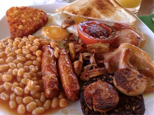 Start your day off with a hardy Irish breakfast