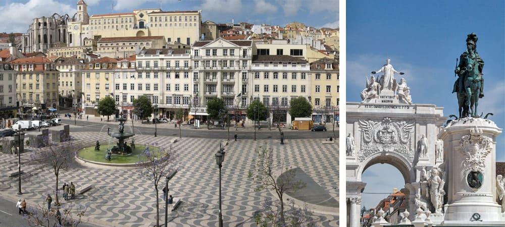 Baixa neighborhood in Lisbon