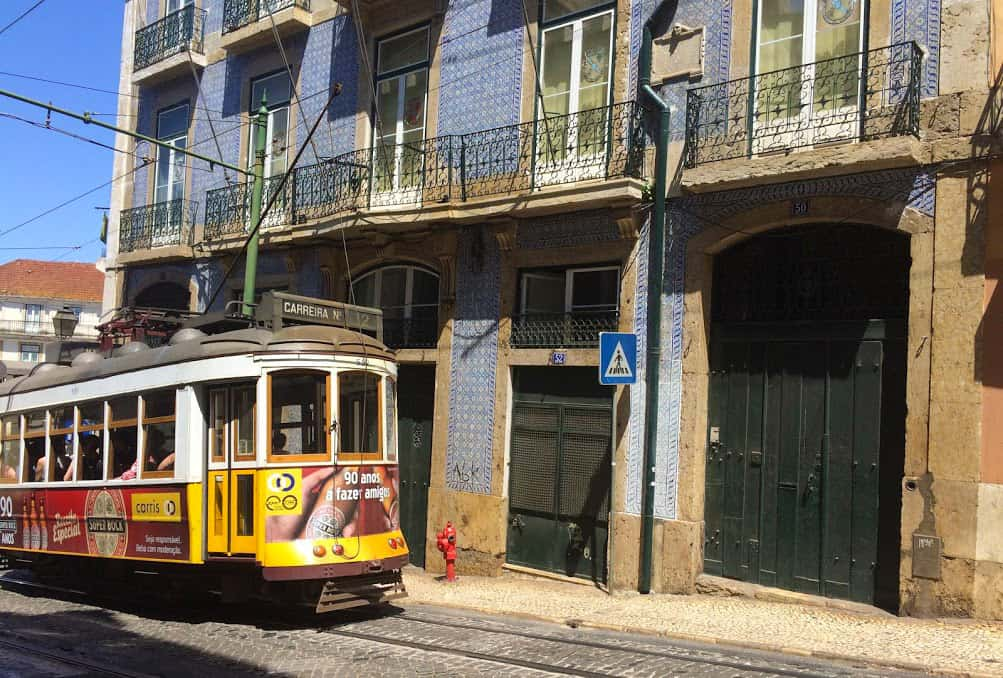 One of Lisbon's famous trolly cars that date before WW1