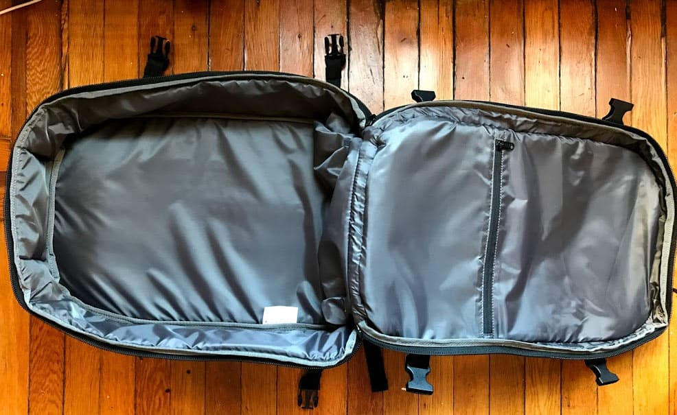 Aer Travel Pack Backpack Review - Main Compartment
