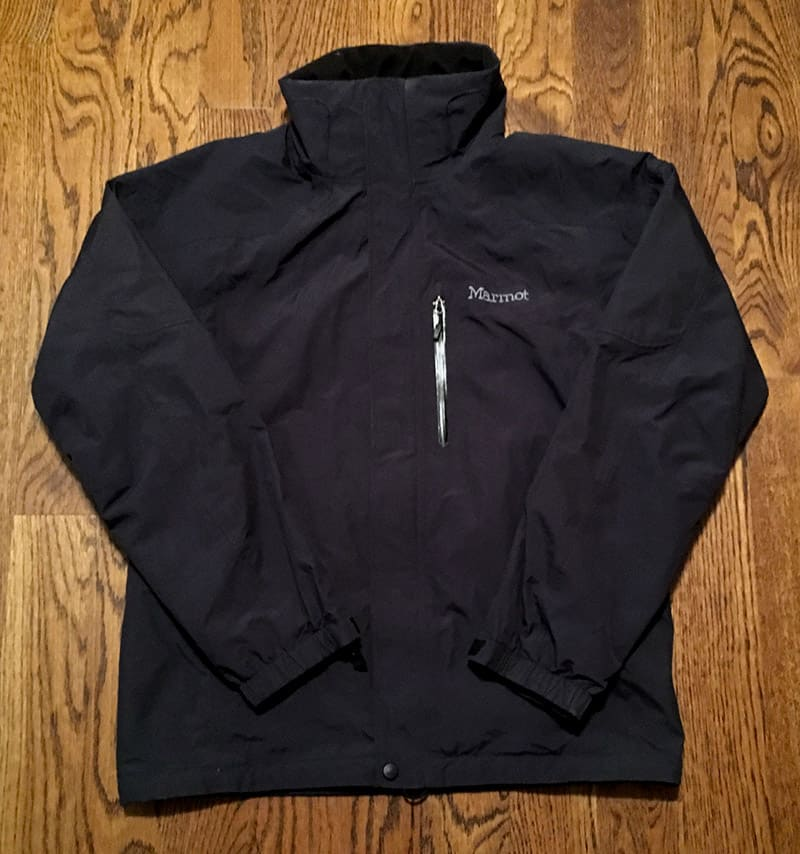 packing light - rain jacket