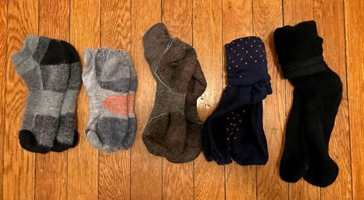 packing light socks
