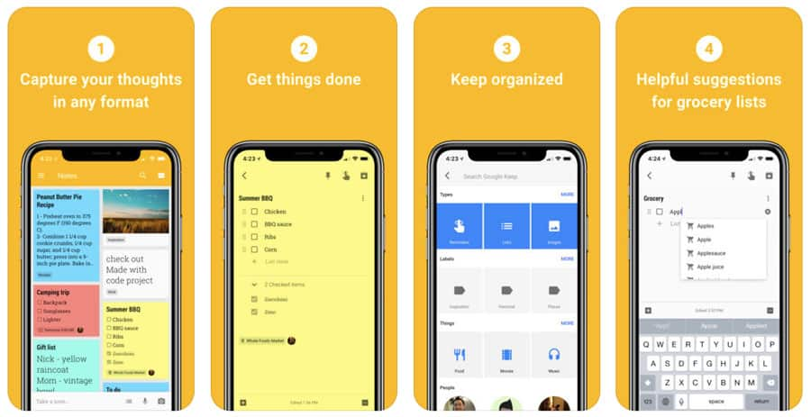 best travel apps - Google Keep