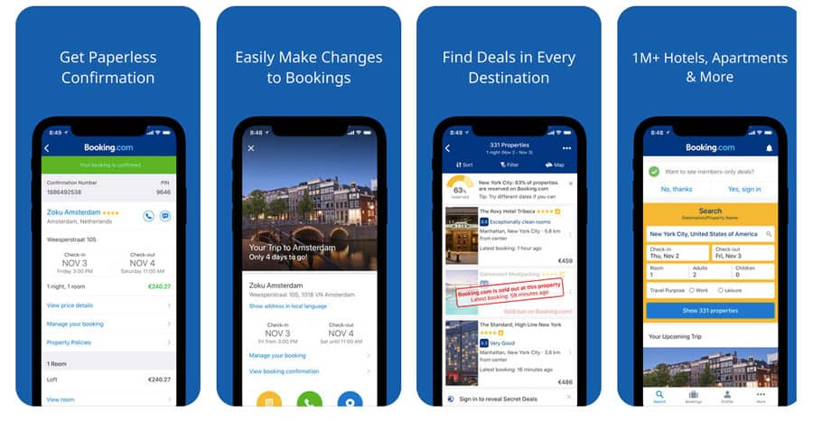 Best travel apps - Booking.com