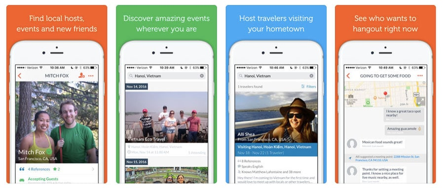 Best travel apps - Couchsurfing