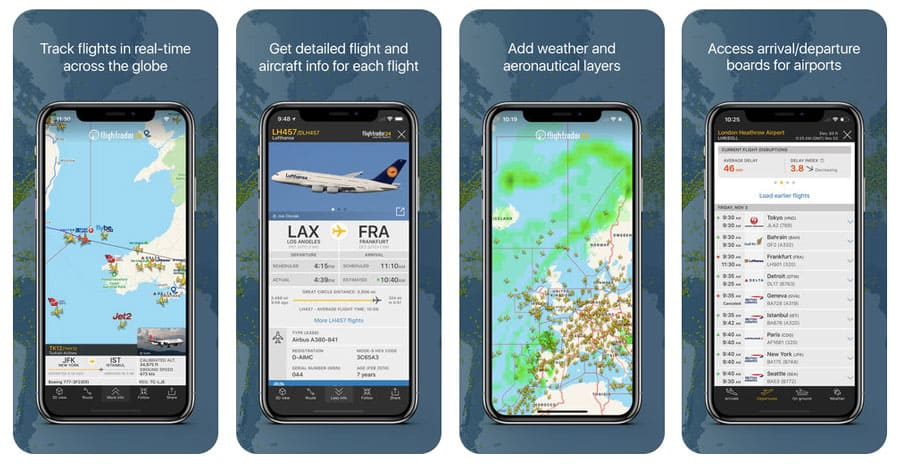 Best travel app - FlightRadar24