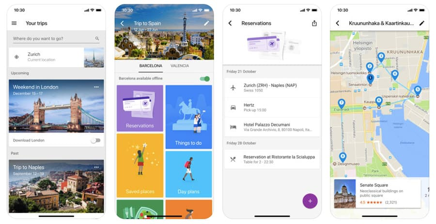 best travel apps - Google Trips