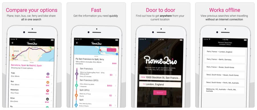 best travel apps - Rome 2 Rio