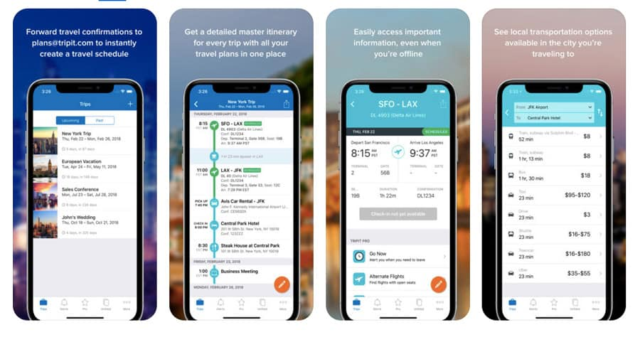 best travel apps - TripIt