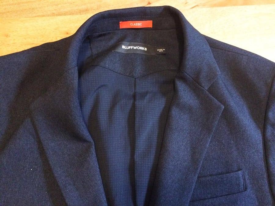 Bluffworks blazer review - fabric