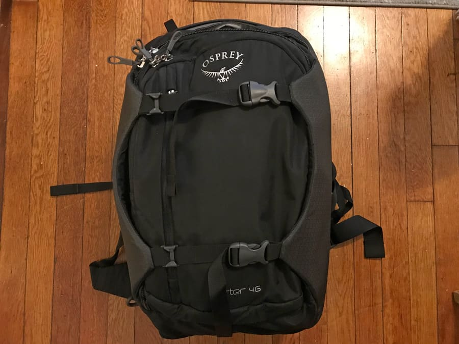 Osprey Porter Review - compression wings