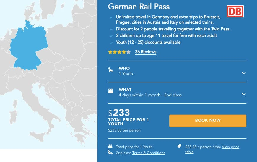 Germany Train - Rail pass