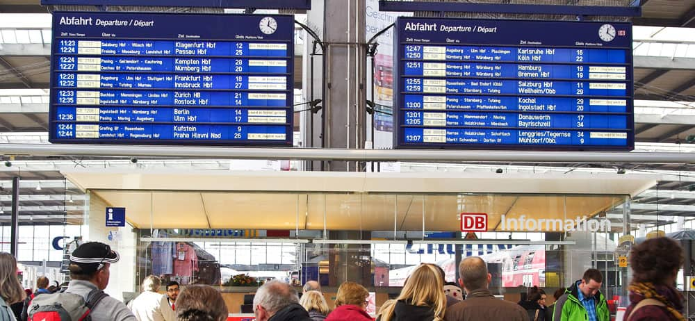 Germany train - Departure Board