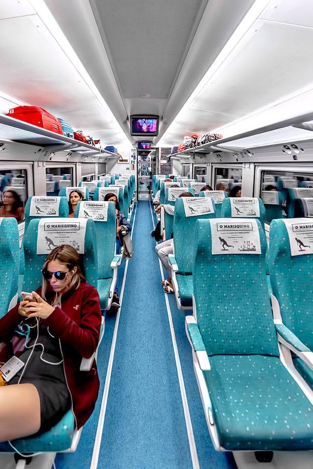 Spain train - seats