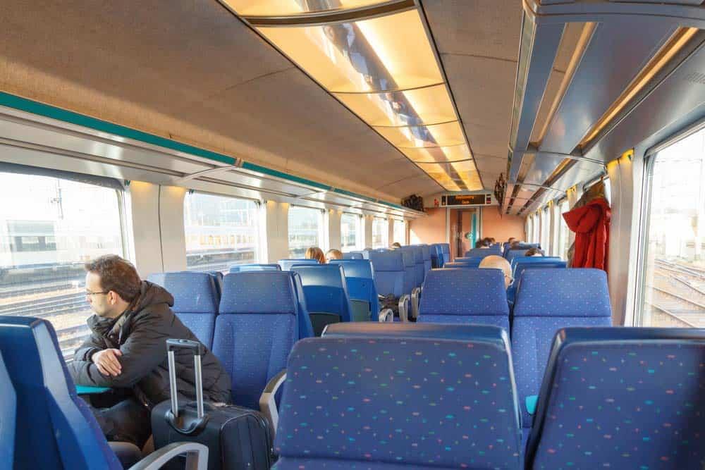 Belgium train - seats