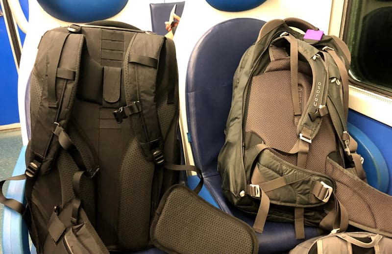 Best Carry-On Backpack - Train Seats