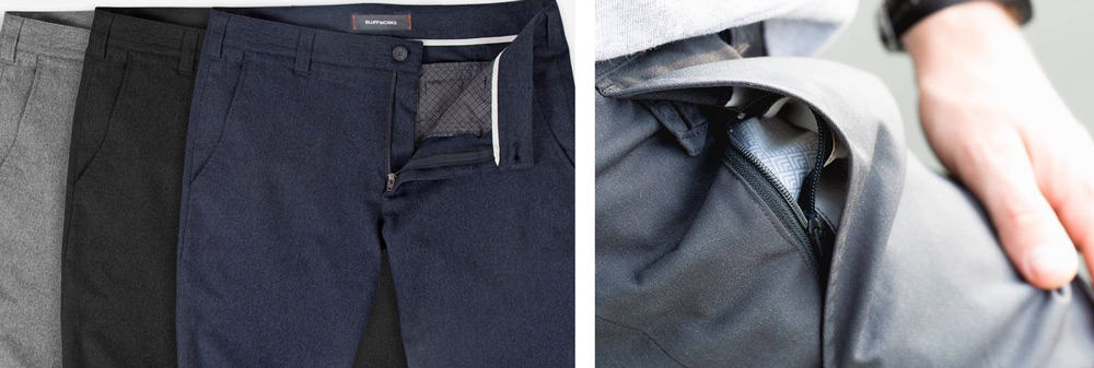 Bluffworks Travel Pants | Zipper Pockets