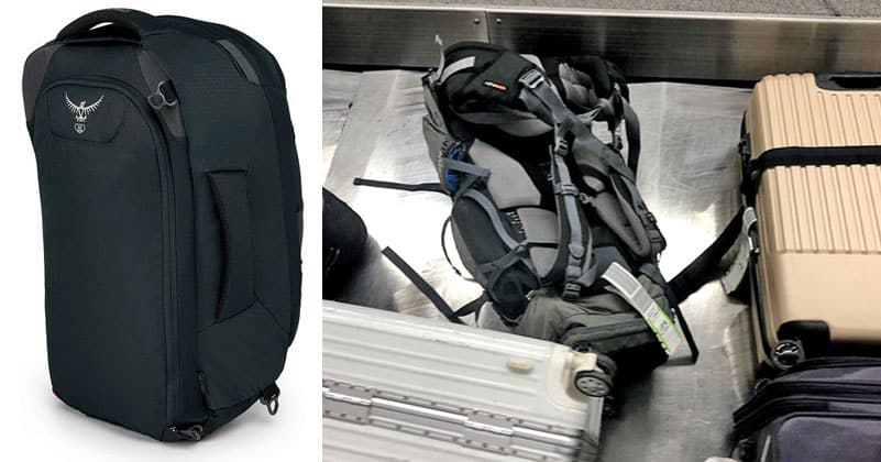 60fa835d45 Stoawble Straps on the Osprey Farpoint (Good) vs Non-Stowable Hiking  Backpack Straps (No Good)