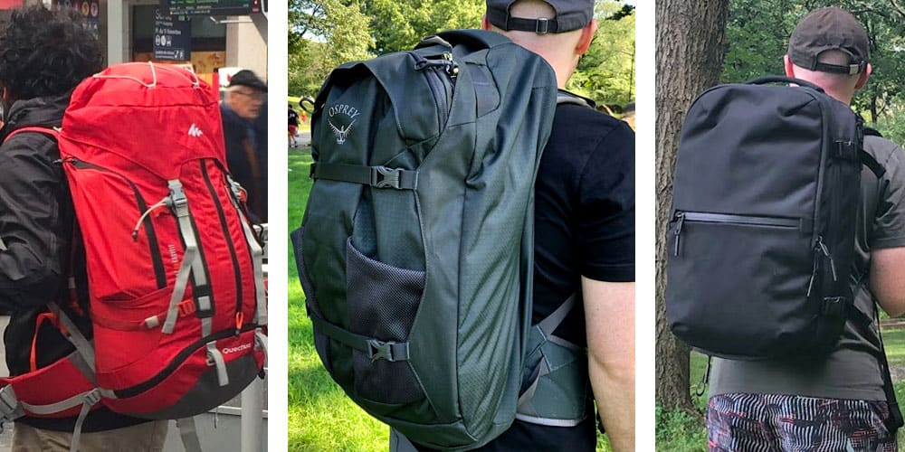 travel backpacks vs hiking backpack