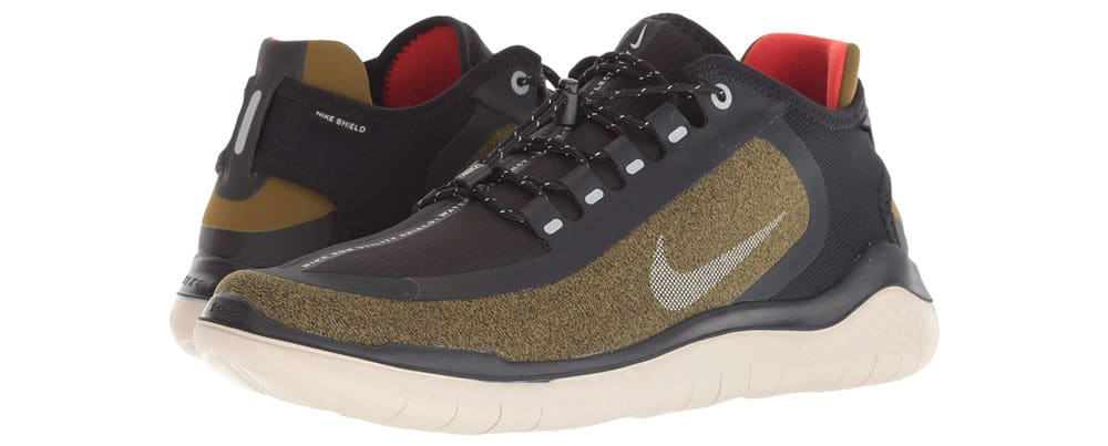 cdb5833d96fd These Nike Free RN Shield shoes are water resistant so they re a nice  option if you want sneakers that can worn in the rain but still look cool.