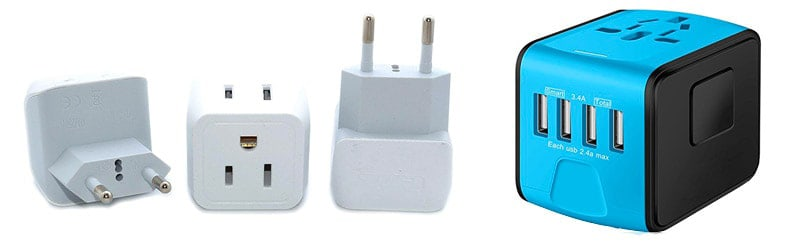 Travel plug adaptor for backpacking Europe