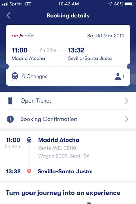 Booking train ticket with Omio
