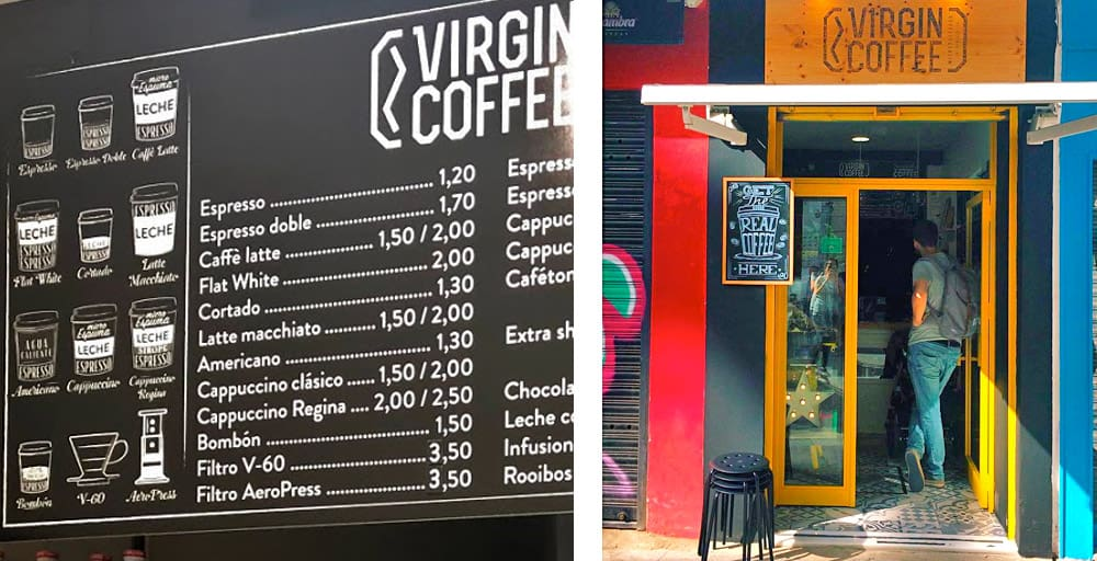 Virgin Coffee | Seville Travel Guide