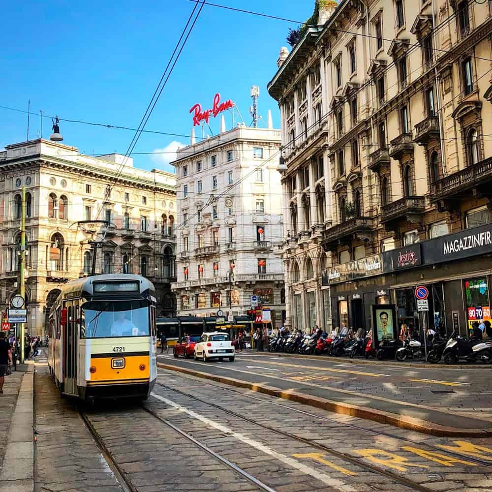 Riding A Trolly In Milan