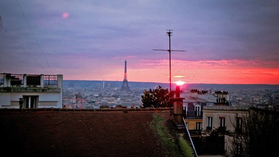 Sunset From the Sacre Coeur | What To Do In Paris
