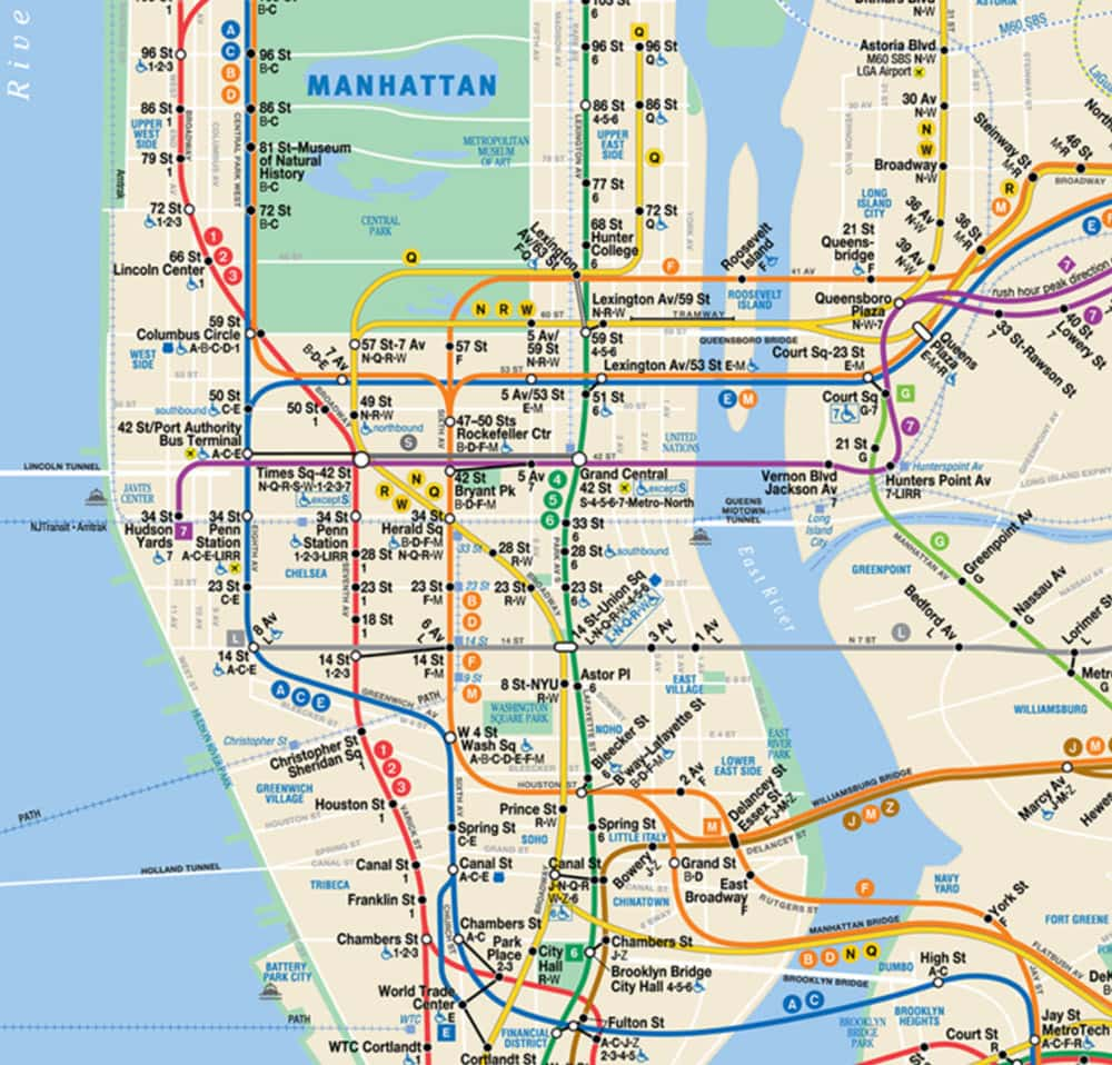 Ideal Nyc Subway Map Efficient.New York City Travel Guide The Insider S Guide To Nyc