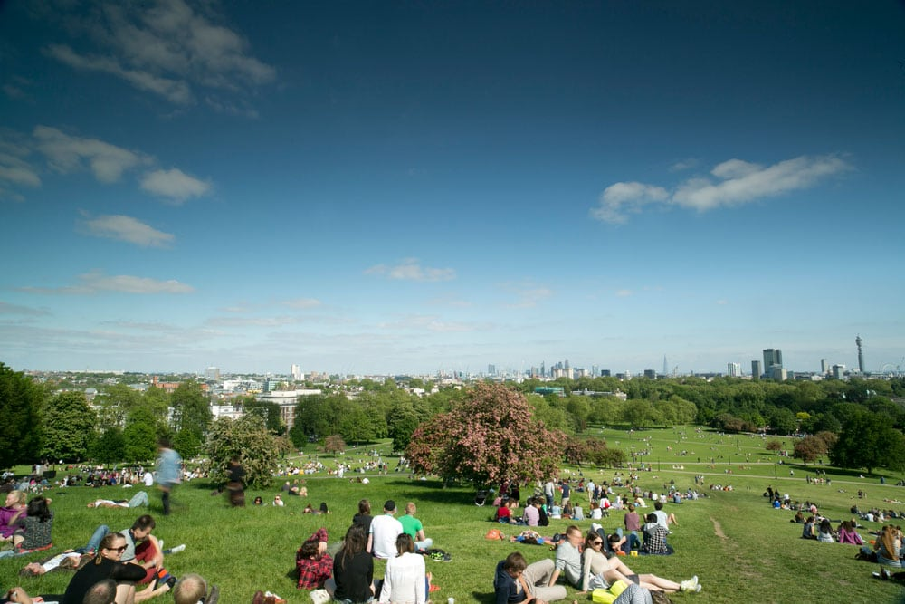 This image has an empty alt attribute; its file name is london-travel-primrose-hill.jpg